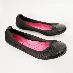 Dexflex Comfort Black Round Toe Ballet Career Flat